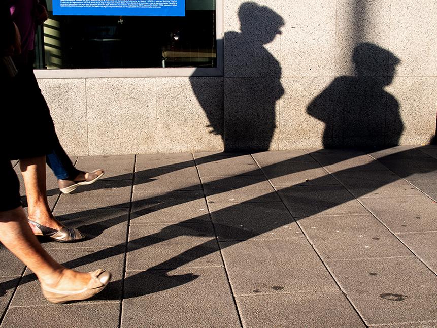 sombra diagonal